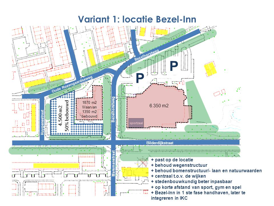 Variant 1: locatie Bezel-Inn