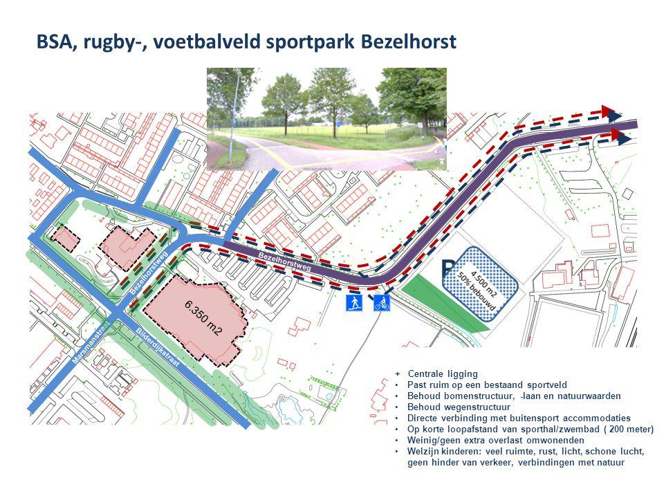 P BSA, rugby-, voetbalveld sportpark Bezelhorst 6.350 m2