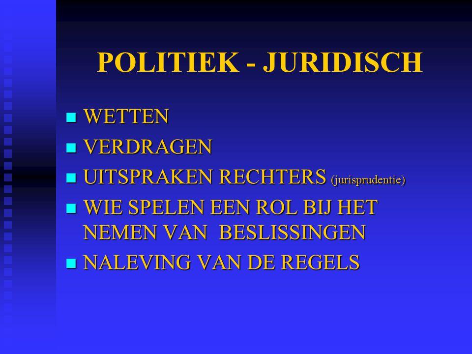 POLITIEK - JURIDISCH WETTEN VERDRAGEN