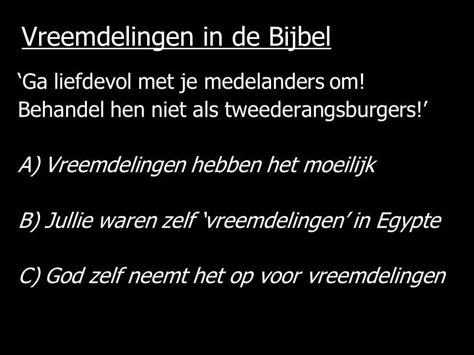 Vreemdelingen in de Bijbel