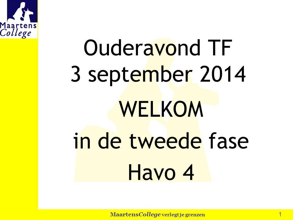 Ouderavond TF 3 september 2014