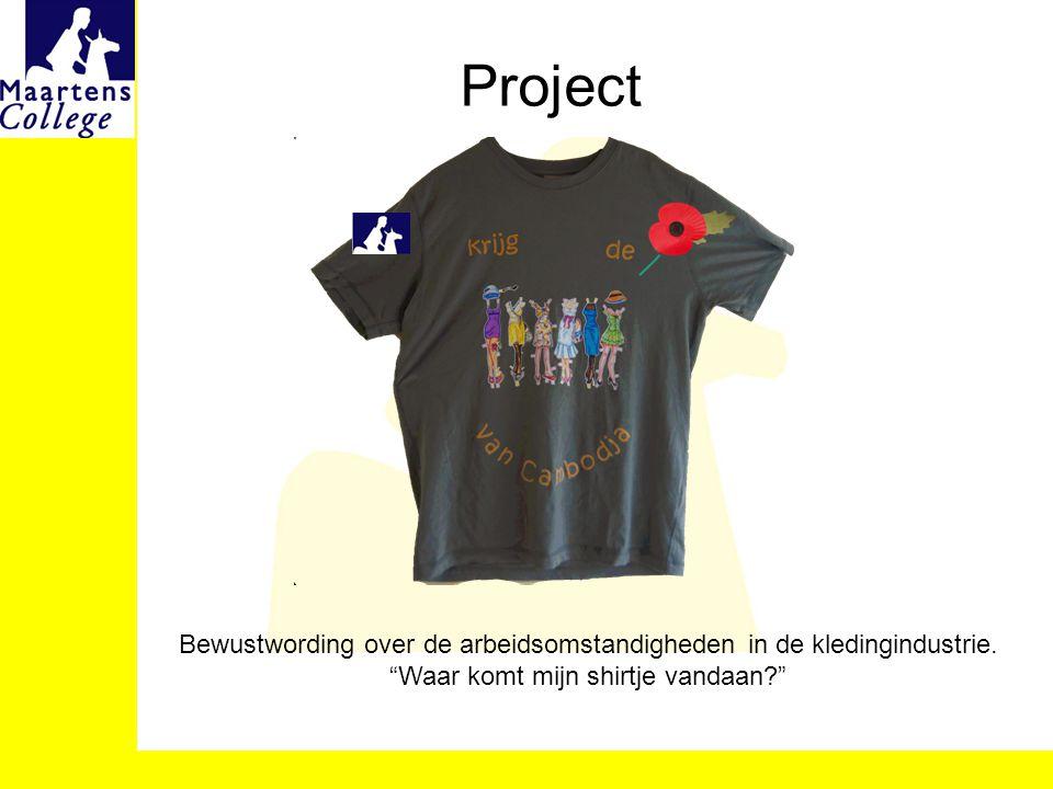 Project Bewustwording over de arbeidsomstandigheden in de kledingindustrie.