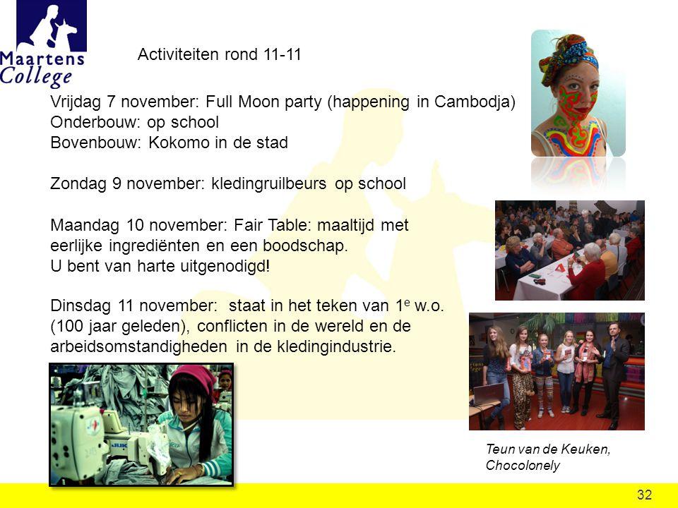 Vrijdag 7 november: Full Moon party (happening in Cambodja)