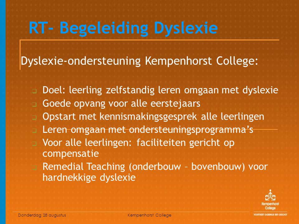 RT- Begeleiding Dyslexie