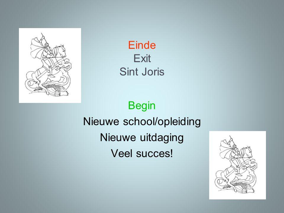 Begin Nieuwe school/opleiding Nieuwe uitdaging Veel succes!