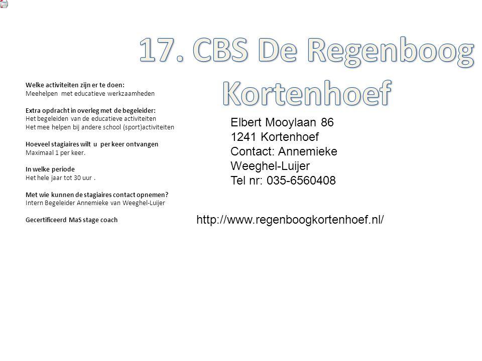 17. CBS De Regenboog Kortenhoef