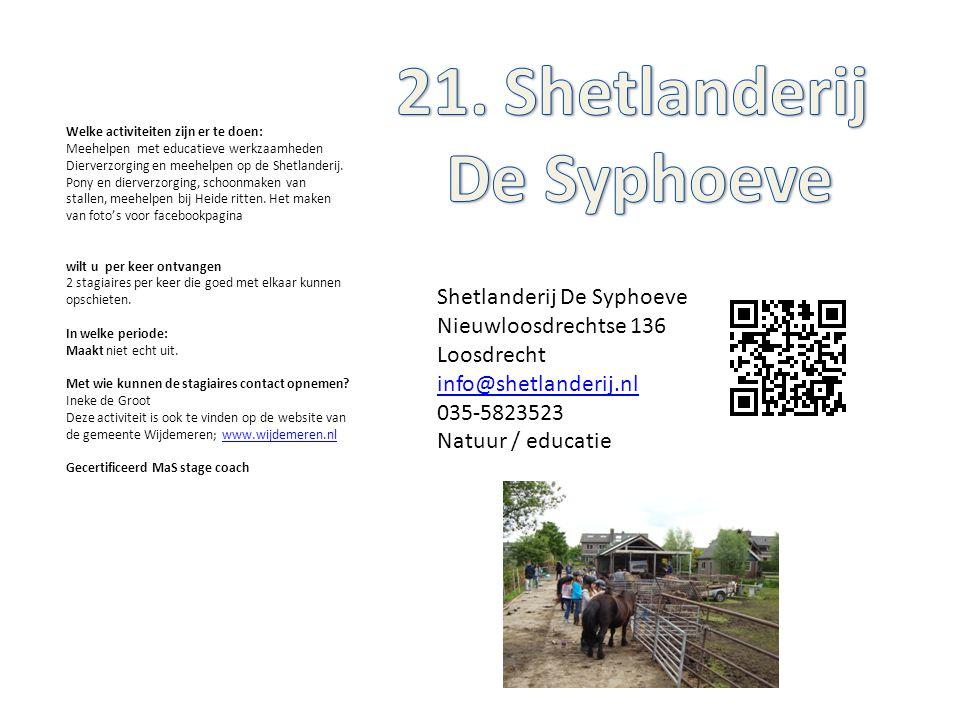 21. Shetlanderij De Syphoeve