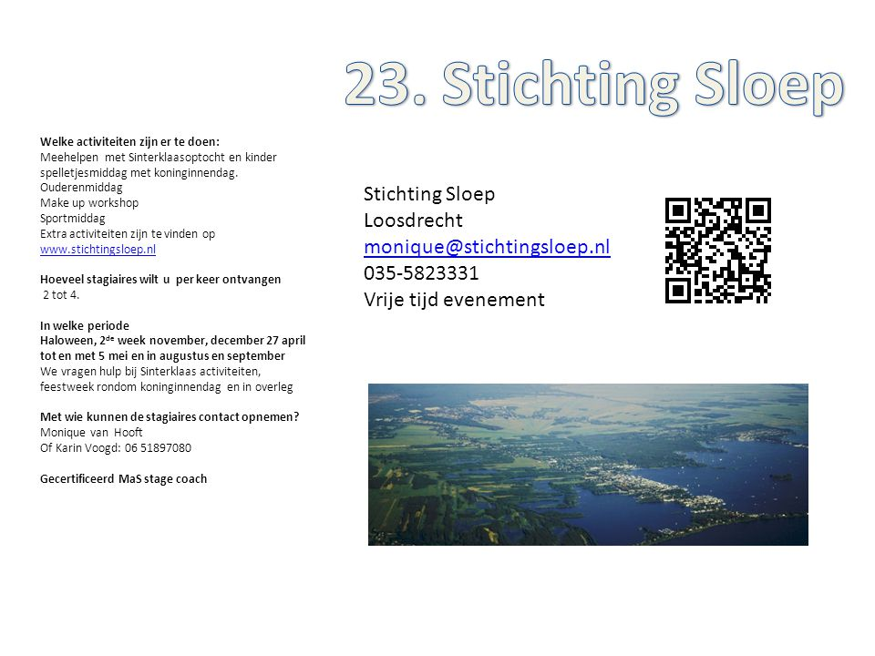 23. Stichting Sloep Stichting Sloep Loosdrecht