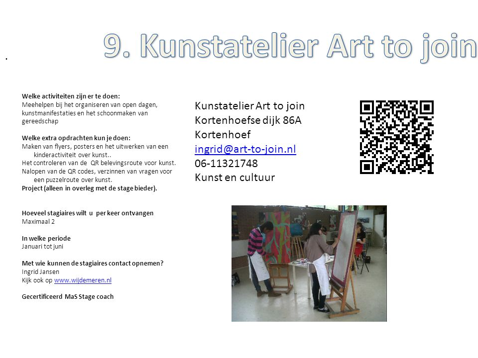 9. Kunstatelier Art to join