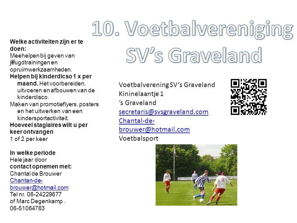 10. Voetbalvereniging SV's Graveland
