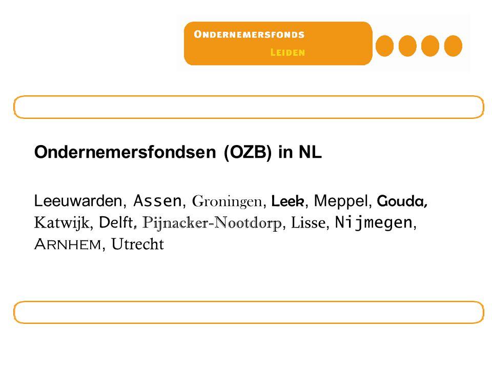 Ondernemersfondsen (OZB) in NL