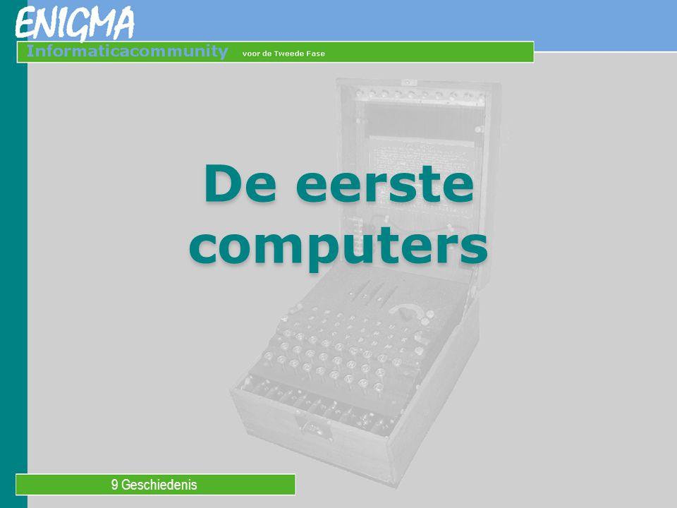 De eerste computers