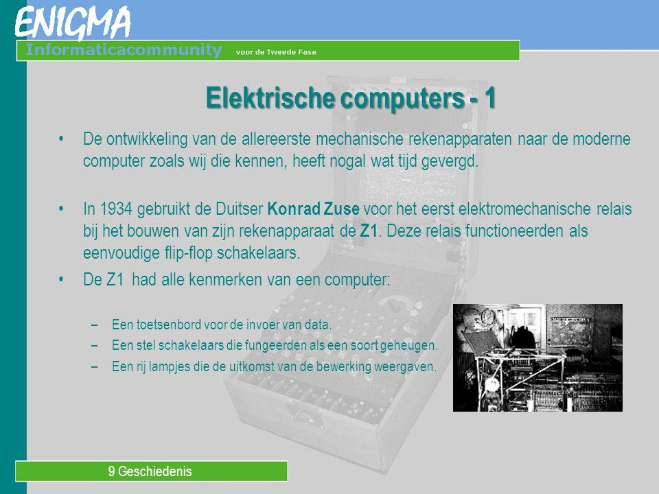 Elektrische computers - 1