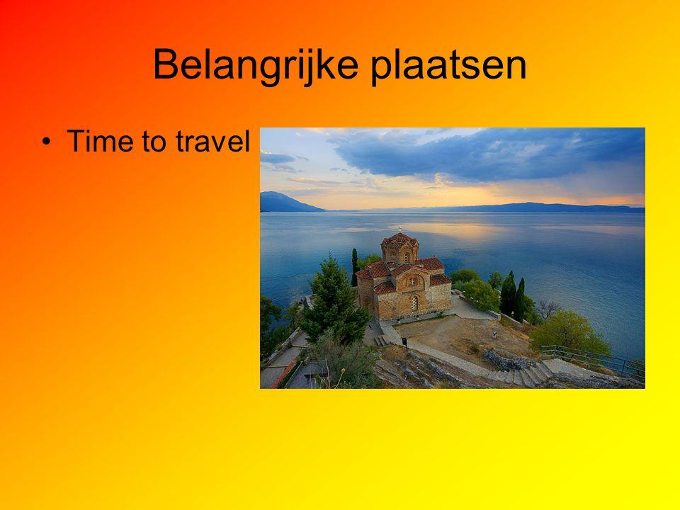 Belangrijke plaatsen Time to travel