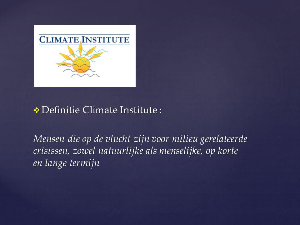 Definitie Climate Institute :