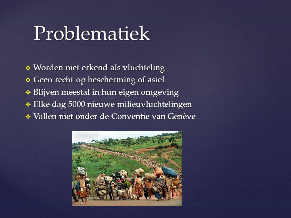 Problematiek Worden niet erkend als vluchteling