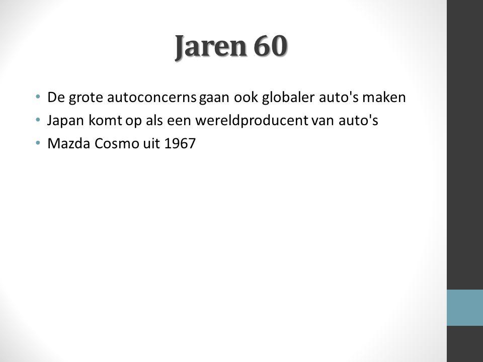 Jaren 60 De grote autoconcerns gaan ook globaler auto s maken