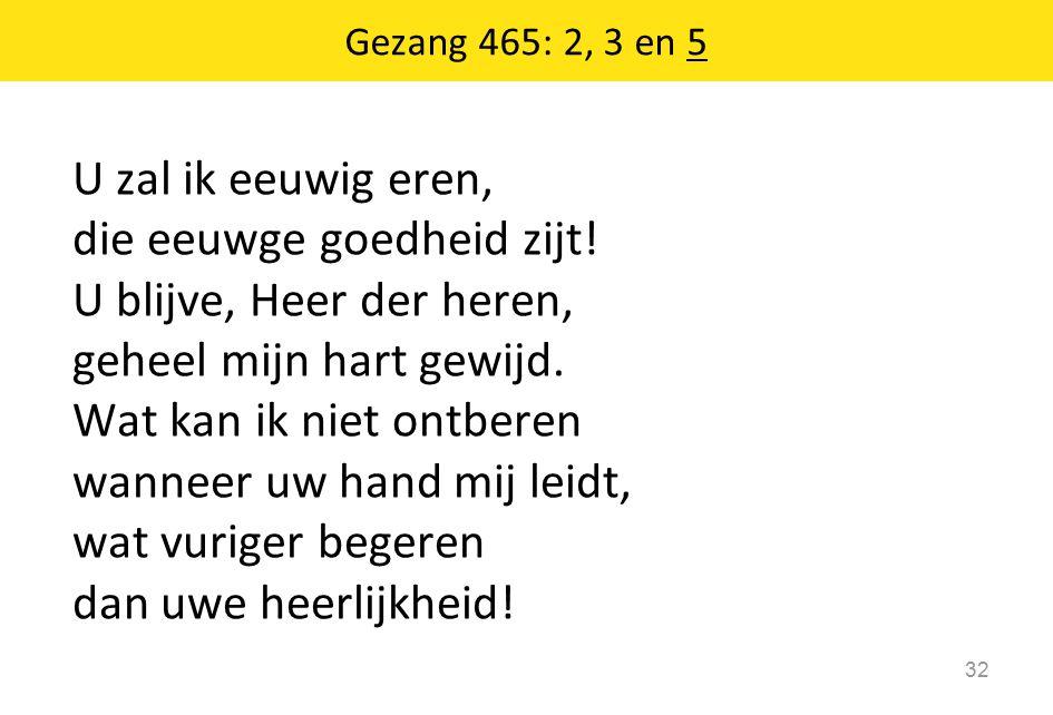 Gezang 465: 2, 3 en 5
