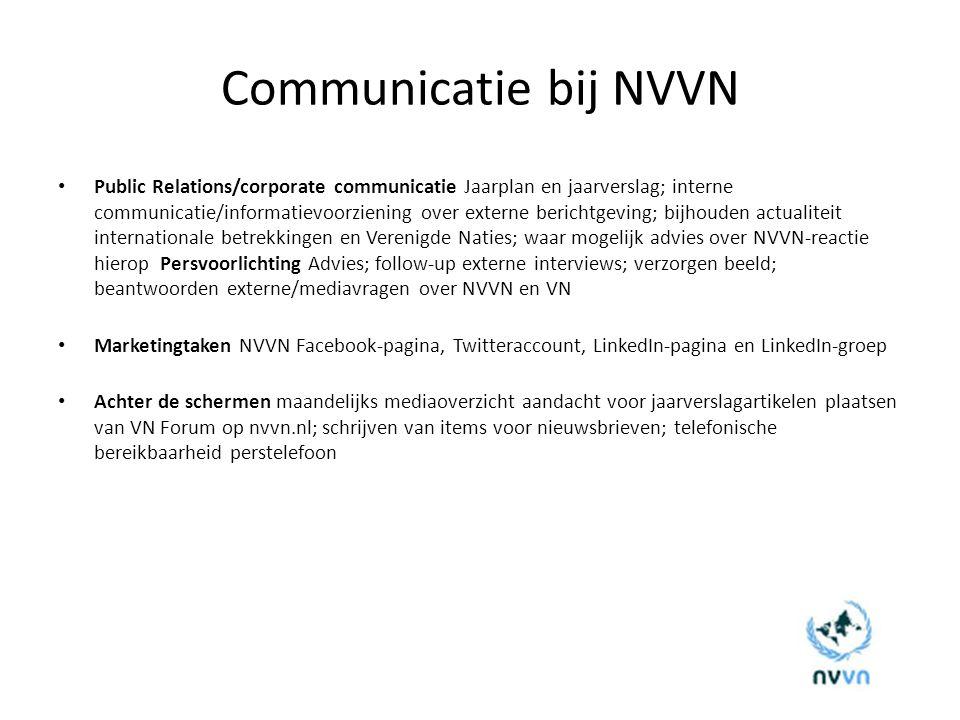 Communicatie bij NVVN