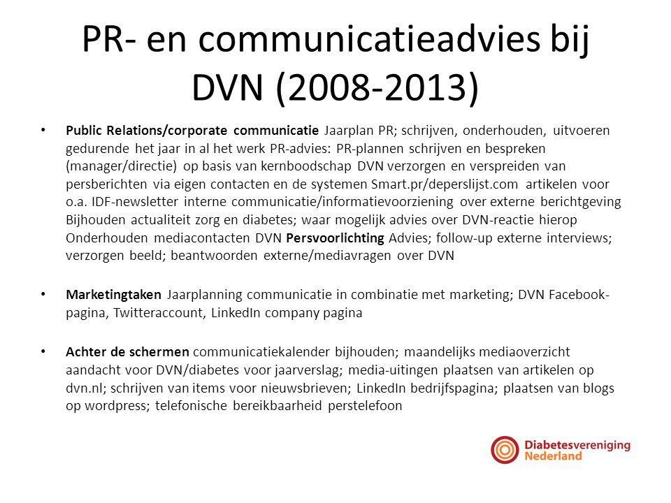 PR- en communicatieadvies bij DVN (2008-2013)