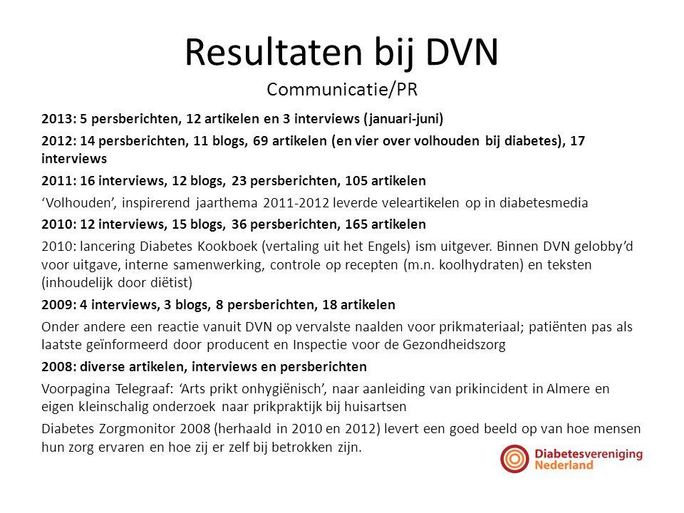 Resultaten bij DVN Communicatie/PR