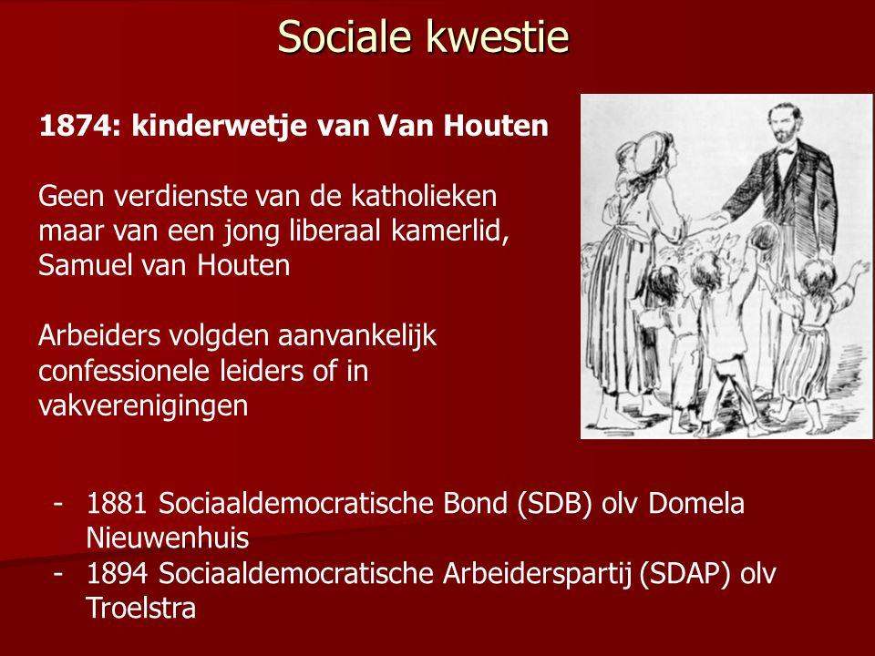 Sociale kwestie 1874: kinderwetje van Van Houten