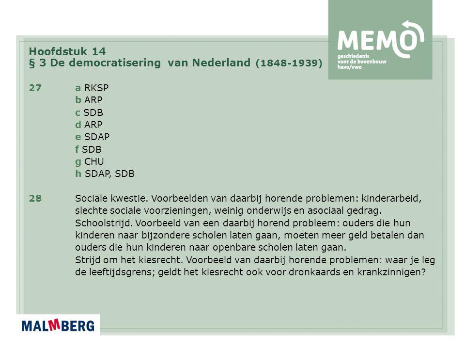 § 3 De democratisering van Nederland (1848-1939)