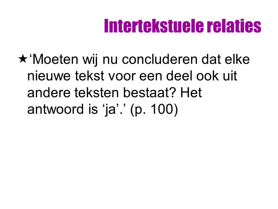 Intertekstuele relaties