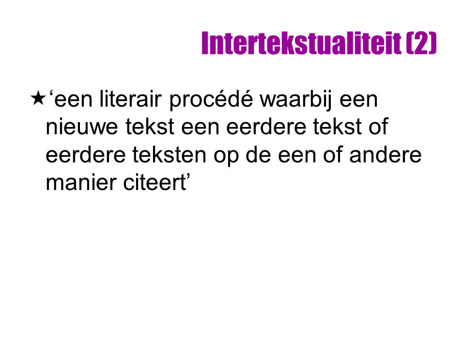 Intertekstualiteit (2)