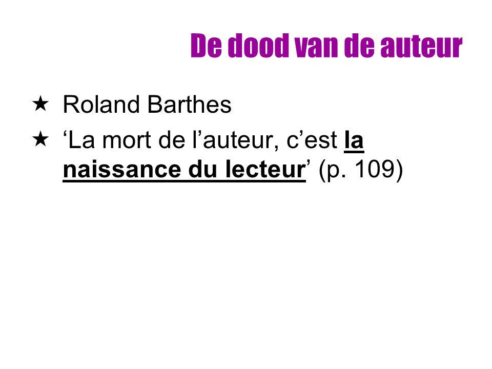 De dood van de auteur Roland Barthes
