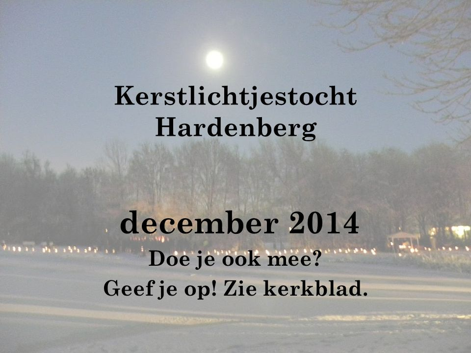 Kerstlichtjestocht Hardenberg