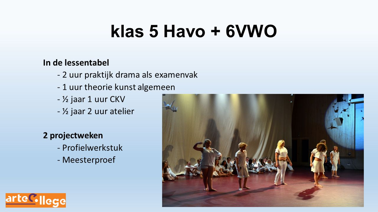 klas 5 Havo + 6VWO