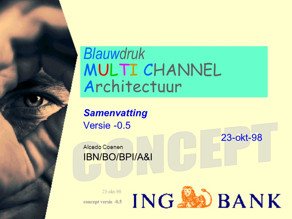 Blauwdruk MULTI CHANNEL Architectuur