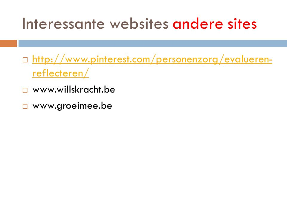 Interessante websites andere sites