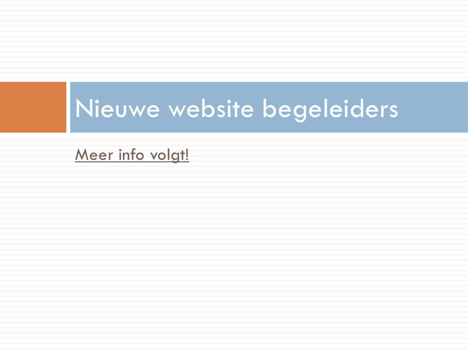 Nieuwe website begeleiders