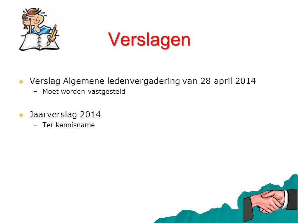 Verslagen Verslag Algemene ledenvergadering van 28 april 2014