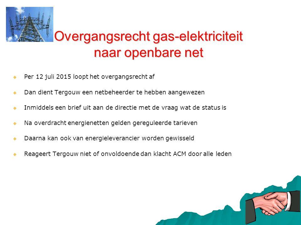 Overgangsrecht gas-elektriciteit naar openbare net