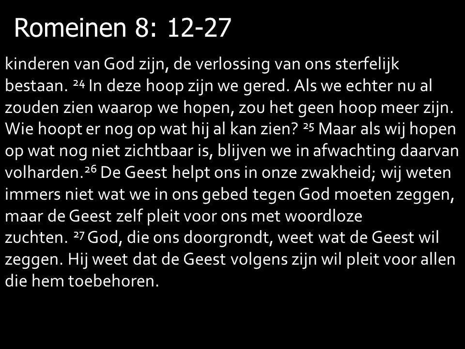 Romeinen 8: 12-27