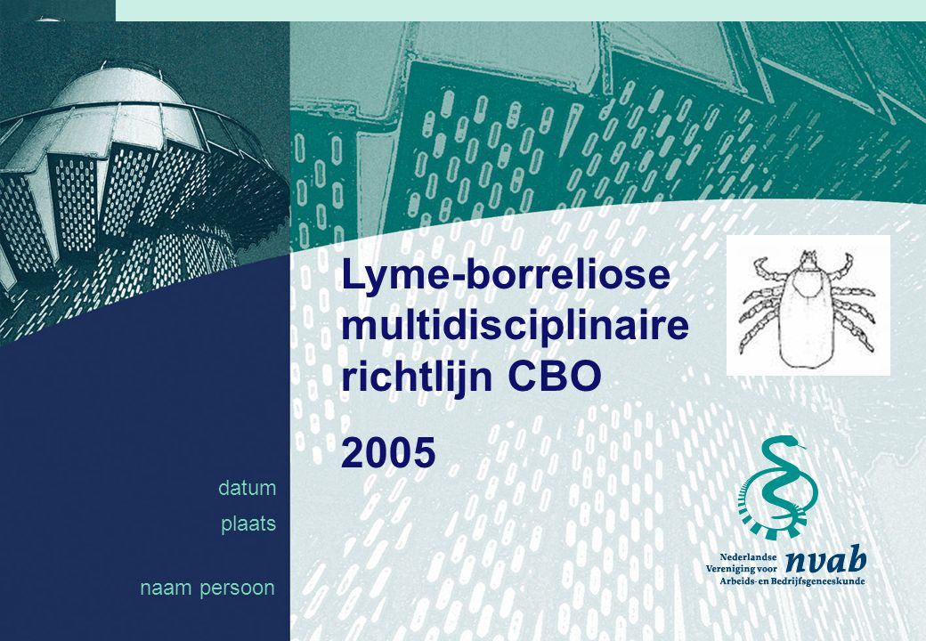 Lyme-borreliose multidisciplinaire richtlijn CBO