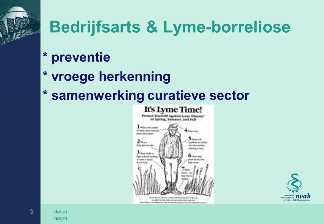 Bedrijfsarts & Lyme-borreliose