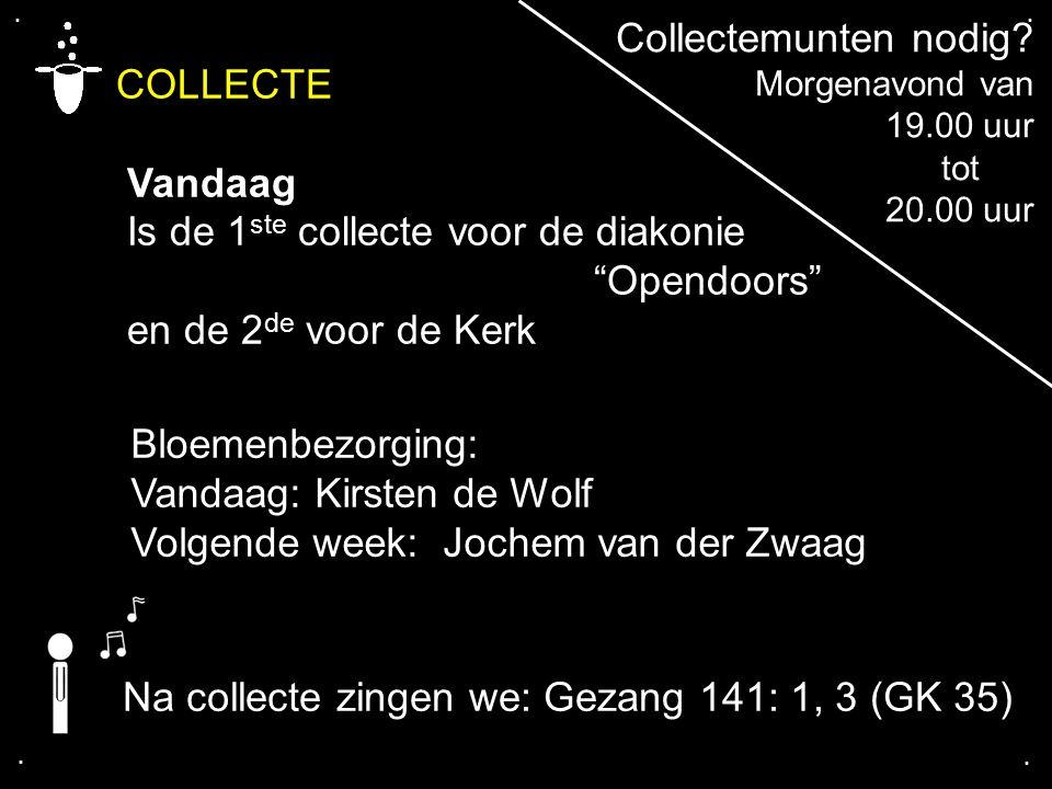 COLLECTE Collectemunten nodig Vandaag