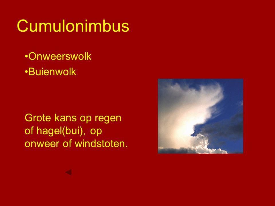Cumulonimbus Onweerswolk Buienwolk