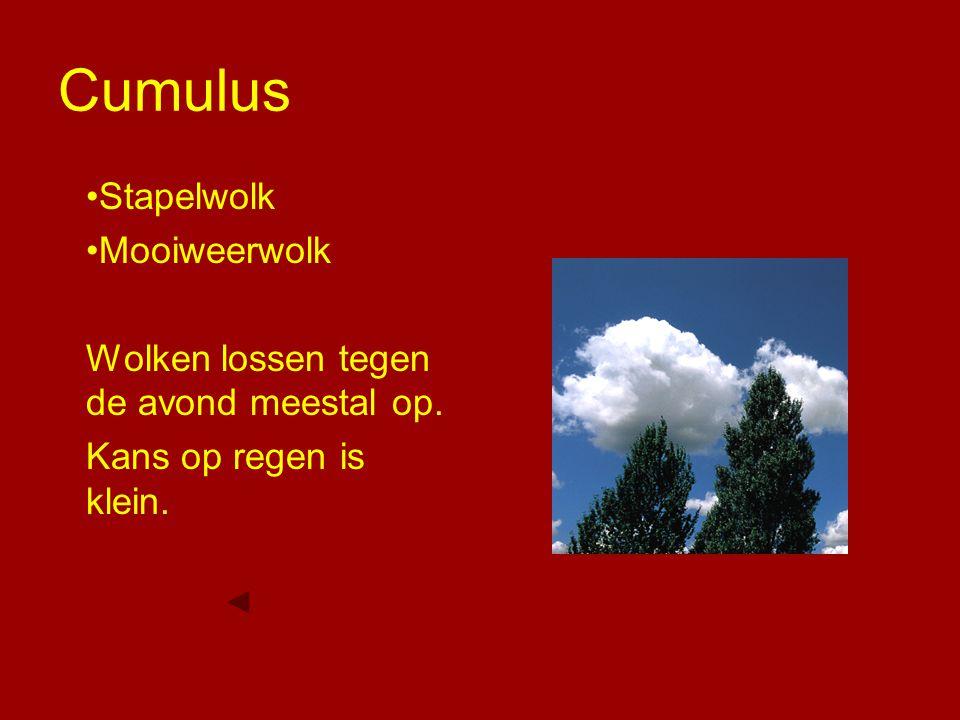 Cumulus Stapelwolk Mooiweerwolk