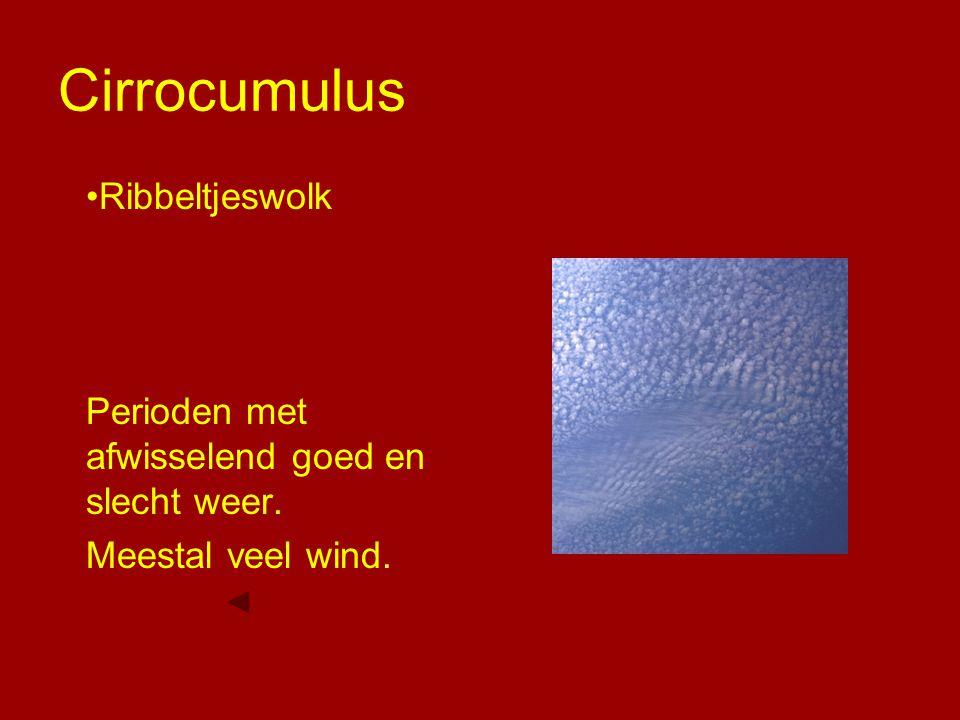 Cirrocumulus Ribbeltjeswolk