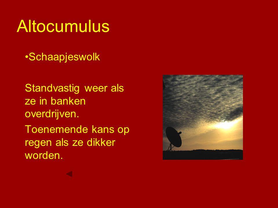 Altocumulus Schaapjeswolk