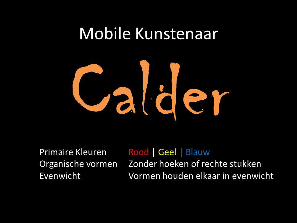 Calder Mobile Kunstenaar Primaire Kleuren Rood | Geel | Blauw