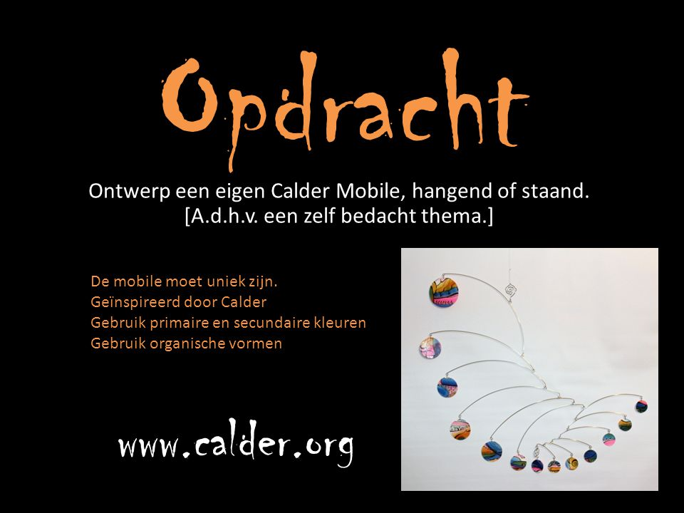 Opdracht www.calder.org