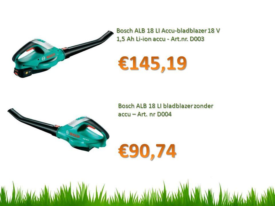 Bosch ALB 18 LI Accu-bladblazer 18 V 1,5 Ah Li-ion accu - Art.nr. D003
