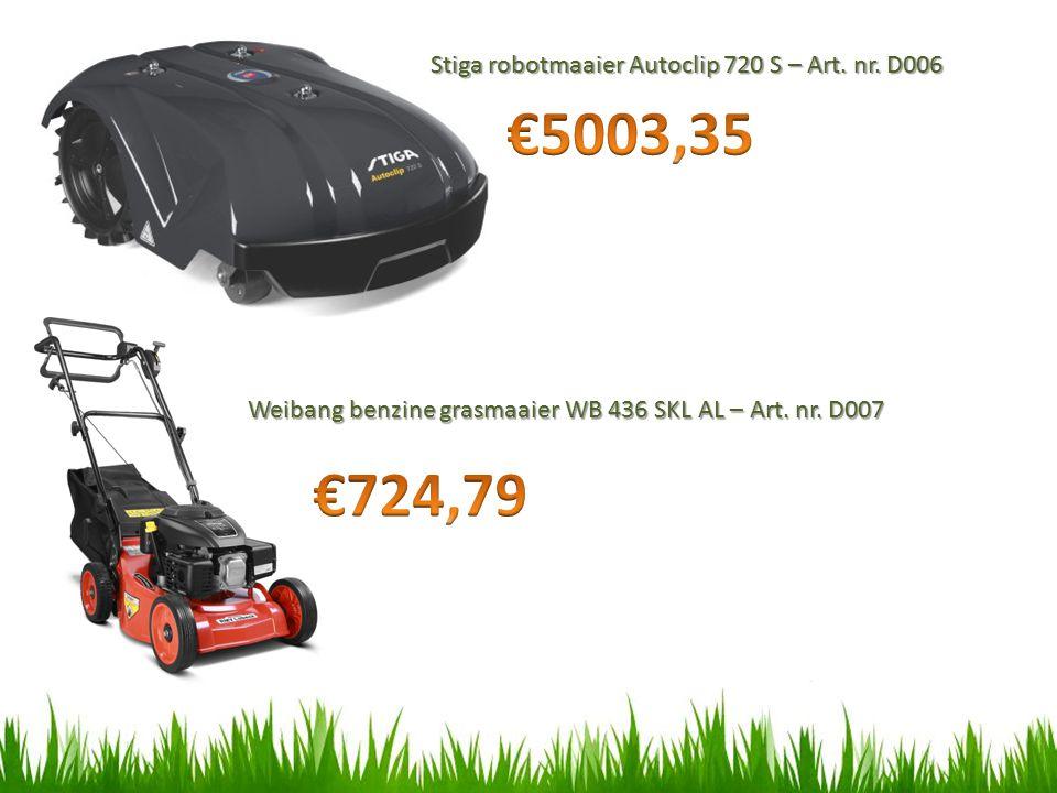 €5003,35 €724,79 Stiga robotmaaier Autoclip 720 S – Art. nr. D006