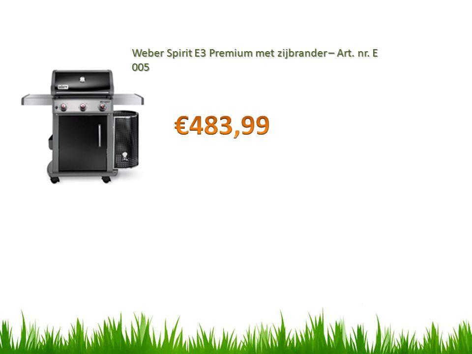 Weber Spirit E3 Premium met zijbrander – Art. nr. E